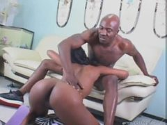 Anal and pussy fucking for black slut videos