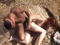 Redhead on a reed mat fucked in the butt videos