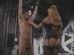 He gets whipped by his blonde mistress movies at adipics.com