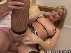 The sexy stockings milf is stuffed with cock videos