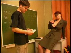 Mature teacher is seducing her student movies at freekilosex.com