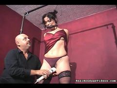 Tied up and she's made to orgasm videos
