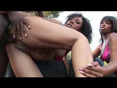 Doggy style sexy for black girl outdoors movies at freekilomovies.com