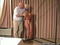 Tied up as he plays with her tits movies at lingerie-mania.com