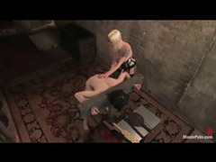 Man in the stocks paddled by his femdom gal movies at freelingerie.us