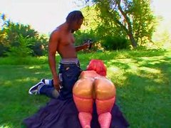 Fat ass black chick outdoors videos
