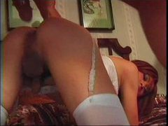 Anally fucked redhead in tasty lingerie movies at kilotop.com