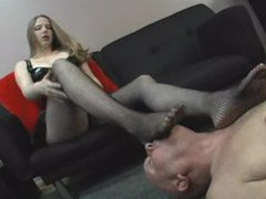 Dominant girl wants him to lick her feet videos