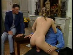 Two guys have a go at hot euro girl movies at freelingerie.us