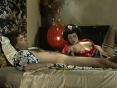 Geisha girl in satin sucks a cock videos