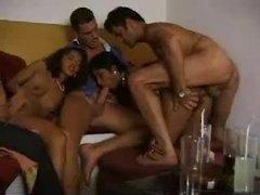 Latina chicks in a fun foursome videos