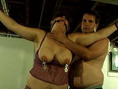 Bound fat chick gets flogged videos