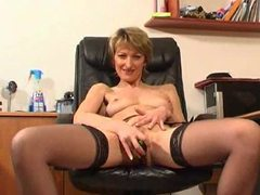 Milf in office with dildo for cunt movies at sgirls.net