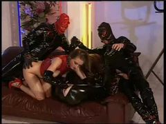 Latex dp with funky fisting fun movies