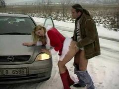 Super hot christmas slut fucked in the snow videos