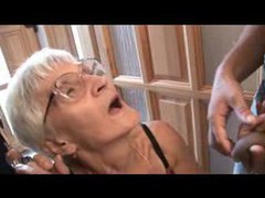 Granny threesome with toothless slut videos