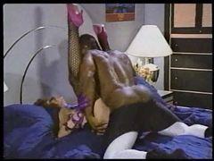 Hot white porn slut taken by black dude in classic scene videos