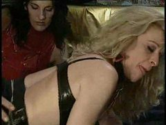 Kinky threesome with leather sluts movies at kilopills.com