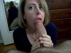 Milf sucks his dick and swallows his cum videos