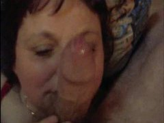 Old brunette likes his young cock videos