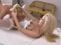 Incredible blondes make out and have sex movies at lingerie-mania.com