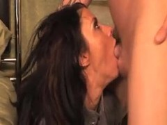 Spit all over her chin during a facefuck movies at find-best-lingerie.com