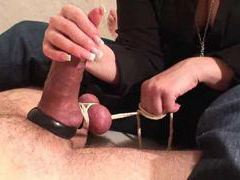 Cbt and handjob for the lucky man movies at sgirls.net