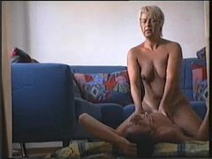 Couple fuck with mature blonde lady movies at lingerie-mania.com