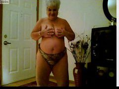 Webcam granny doing a tasty striptease videos