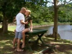 Hot blonde by the lake sitting on a large dick movies at kilotop.com