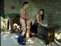 Shy dude nails a hot slut outdoors and loves it movies at freekilomovies.com