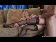 Diamond foxxx in seamed stockings fucking movies at freekiloporn.com