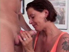 Spit everywhere as she gives deepthroat bj videos