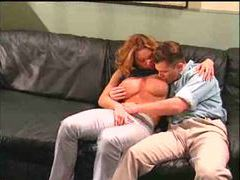 Big tits on the cocksucking redhead are amazing movies at kilotop.com