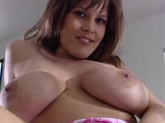 Busty gal rubs clit during hardcore fuck scene videos