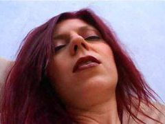 Horny redhead putting a toy in her shaved pussy movies at kilotop.com