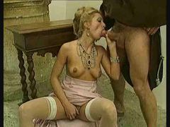 Hardcore sex in classic porn movie with stockings movies
