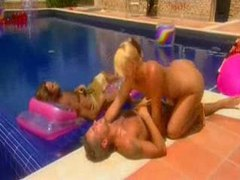 Poolside fuck with sweaty slut movies at sgirls.net