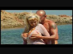 Huge titty blonde fucked on sexy beach videos