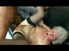 Granny taking black cock from young guy videos