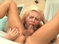 He pushes blonde whore down on his cock movies at sgirls.net