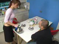 Their house guest fucks the gorgeous redhead movies at kilovideos.com