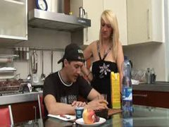 Seduction of a young man by hot mom videos