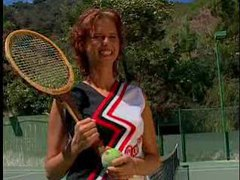 Fucked hard on the tennis court movies at sgirls.net