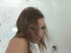 Slender slut searching for dicks in bathroom videos