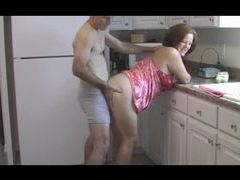 Couple fucks in the kitchen in the morning videos