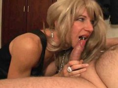 Pierced blonde with perky tits loves his cock movies