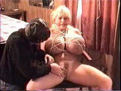 Humongous boobs slut likes bondage videos