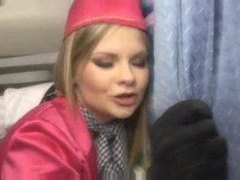 Anally fucking the slutty stewardess on a plane videos