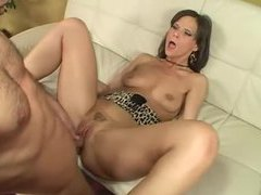 Skinny hot milf gags on his big cock videos